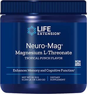 Life Extension Neuro-Mag Magnesium Threonate, Tropical Punch, 3.293 Ounce