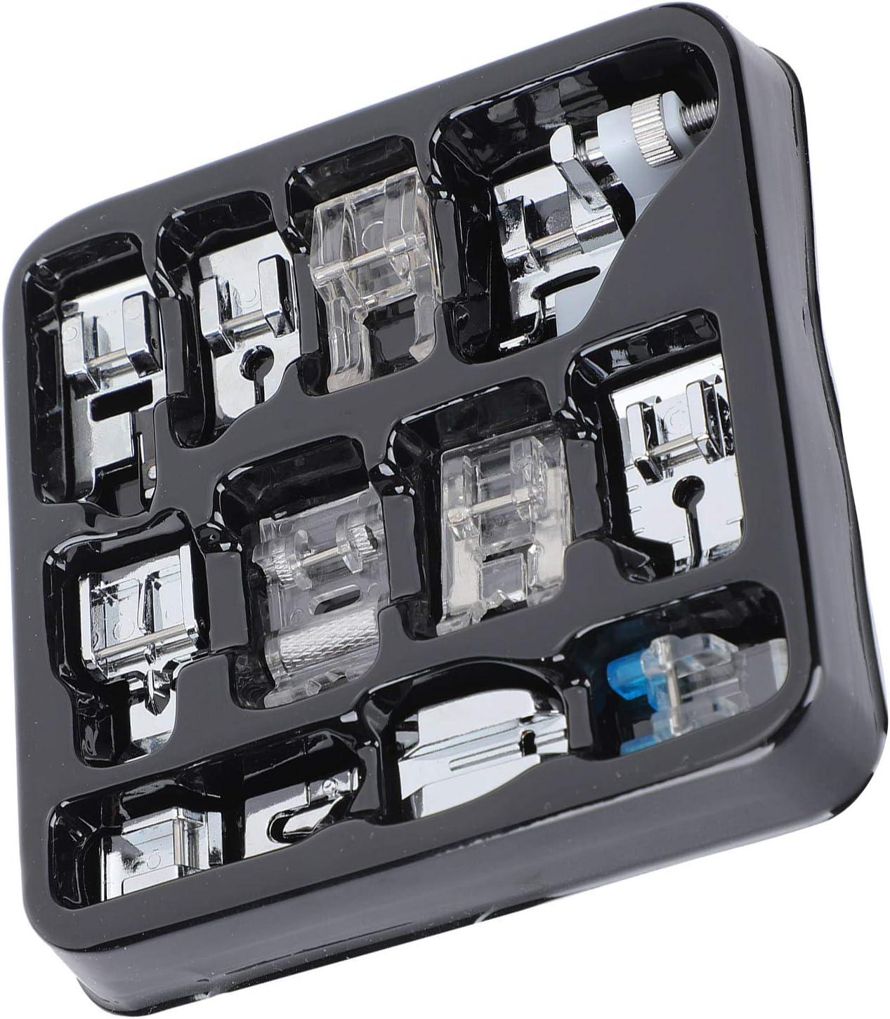 SALUTUY Prensatelas para Máquina De Coser, Resistente A La Corrosión 505A Cremallera Invisible 11 Piezas 505A Prensatelas para Máquina De Coser De Alta Resistencia para Botones para Cremalleras