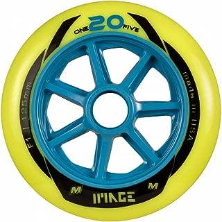 Matter Image one20five F1Patines en línea racing ruedas de 125mm de 6Pack Amarillo Amarillo, 125mm