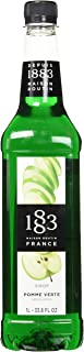 1883 Maison Routin - Green Apple Syrup - Made in France - Pet Bottle | 1 Liter (33.8 ounces)