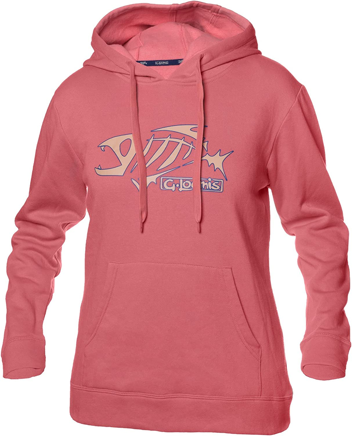G. Loomis Womens Pull Over Hoodie Pink X Small