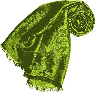 Seide Gefühl Paisleymuster Wickeltuch Stola Schal Hijab Kopf Schals