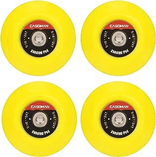 CASOMAN 3-Inch Dual-Action Hook & Loop Fastener Flexible Backing Plate, 3