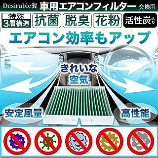 Desirable製 特殊3層構造&活性炭入り ホンダ車用 フィット フィットハイブリッド ヴェゼル フリード フリードハイブリッド フリードスパイク インサイト CR-Z 等 交換用 エアコンフィルター PM2.5除去 ウィルス 排ガス 抗菌 抗カビ をブロックの高機能 適合品番80291-TF0-941等