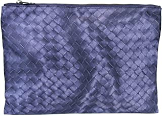 Bottega Veneta Blue Pouch Intrecciolusion Nylon Cosmetic Bag 301493 4106