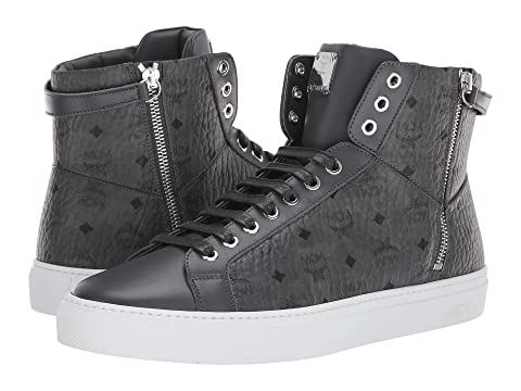 MCM Logo Group Lace-Up Turnlock Sneakers