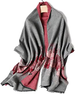 Plaid Blanket Scarves for Women Ladies Leisure Winter Warm Tartan d Long Checked Shawls and Wraps Tassel Large Wraps