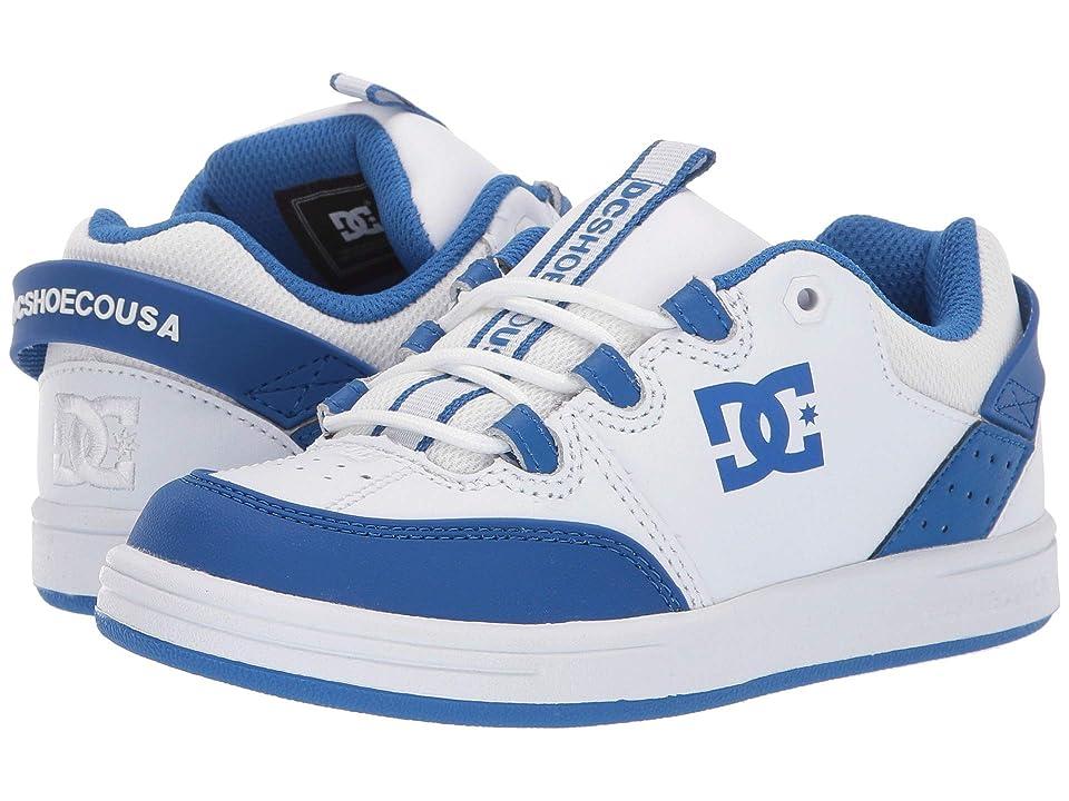 DC Kids Syntax (Little Kid/Big Kid) (White/Royal) Boys Shoes
