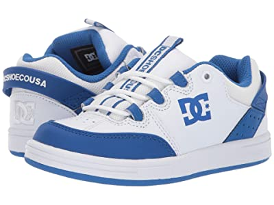 DC Kids Syntax (Little Kid/Big Kid) (White/Royal) Boys Shoes