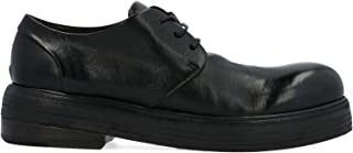 MARSELL Women's MW51906766 Black Leather Lace-Up Shoes