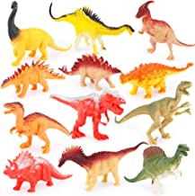 6 Inch Jumbo Plastic Dinosaur Playset,Plastic Dinosaurs for School, Playtime,Birthday Party(12-Pack)