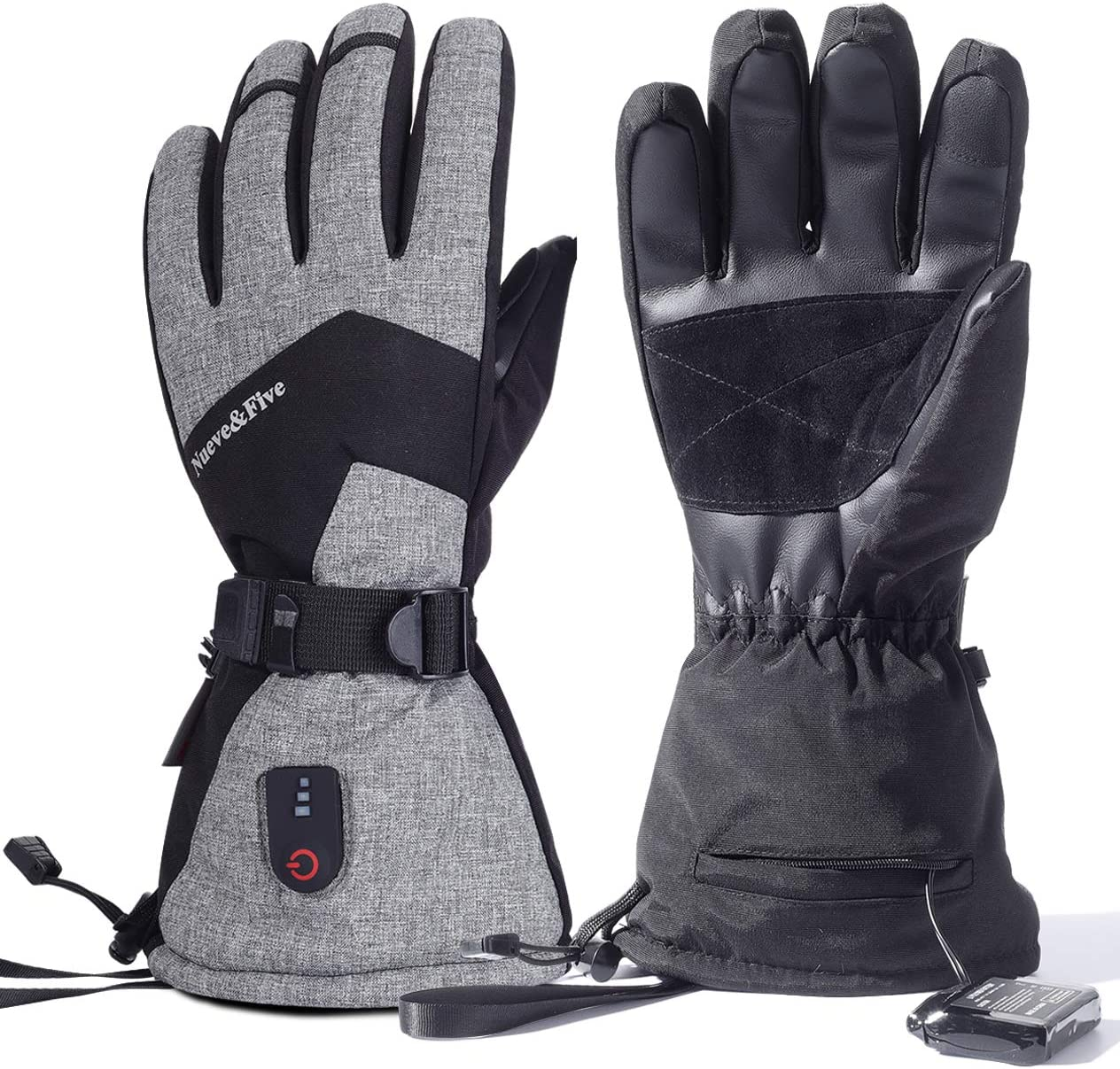 NueveFive Rechargeable Cash special price Heated Gloves for Battery Be super welcome Women and Men