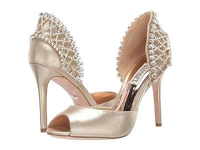 Badgley Mischka Adrina (Platino Metallic Suede) High Heels