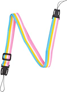 Sunmns Camera Neck Shoulder Strap Belt for Fujifilm Instax Mini 9/8/ 90/8+/ 7s/ Square SQ10 Instant Film Camera, Rainbow