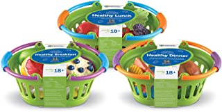 Learning Resources New Sprouts Healthy Foods Basket Bundle, 40 Pieces
