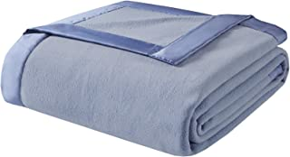 True North by Sleep Philosophy Micro Fleece Luxury Blanket Blue 66*90 Twin Size Premium Soft Cozy Mircofleece For Bed, Coa...