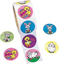 Fun Express Easter Bunny & Chick Roll of Stickers - 100 Stickers