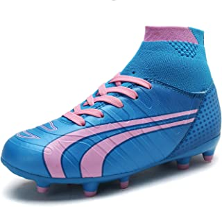 Boys Girls Soccer Football Cleats Shoes(Toddler/Little Kid/Big Kid)