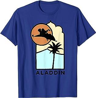 Disney Aladdin Live Action Carpet Ride Line Art Logo T-Shirt