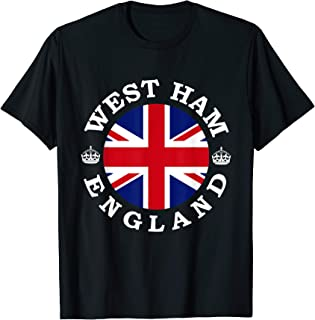 West Ham England UK Vintage British Union Jack T-Shirt