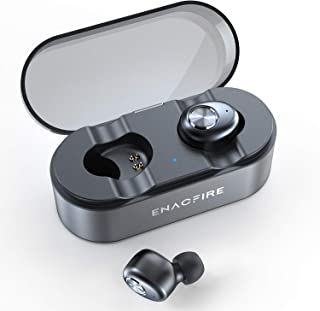 ENACFIRE E18 Plus Wireless Earbuds with Wireless Charging Case CVC8.0 3D Stereo Sound Deep Bass 8H Non-Stop Playtime IPX7 Waterproof Bluetooth Earbuds