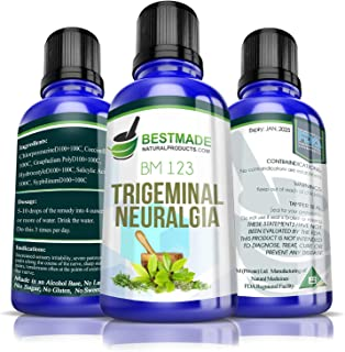 Trigeminal Neuralgia BM123, 30mL, A Natural Remedy for Tic Delarue Helps Control Episodes of Face or Jaw Nerve Pain, Does Not Cause Drug Interactions, No Side Effects, Provides Non Drowsy Relief