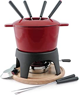 Swissmar F66705 Sierra 1.6-Quart Cast Iron Meat Fondue Set,