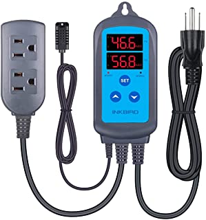 Inkbird Humidity Controller IHC200 Humidistat Mushroom Greenhouse Pre Wired Outlet Dual..