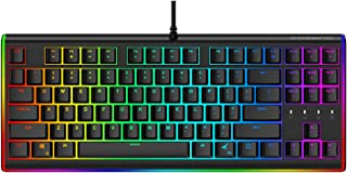 DURGOD RGB Mechanical Gaming Keyboard - Tactile & Clicky Cherry MX Blue Switches - Programmable 16.8 Million Color LED Backlit and Illuminated Side Light - USB Wired TKL 87 Key N-Key Rollover - Black