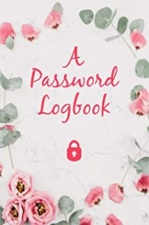 Password Logbook to Write Down and Keep Track of Usernames & Passwords: Journal Gift Notebook For Seniors | Storing Over 340 Passwords in Alphabetical Order, 9 x 6 inch; 152.4 x 228.6 mm
