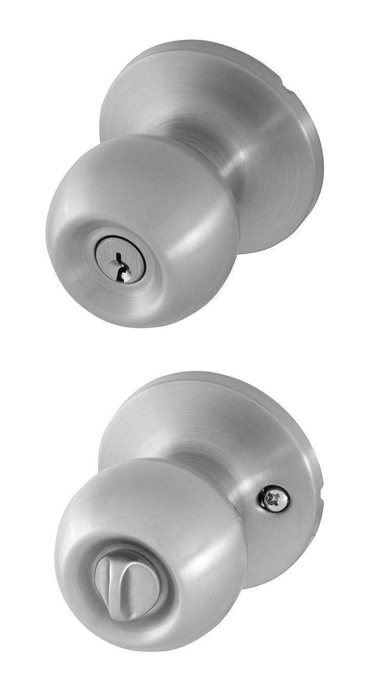 Honeywell 8102301 Ball Entry Door Knob, Satin Nickel