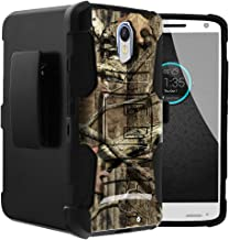 Untouchble Case for Motorola Droid Turbo 2 Case | X- Force Holster Case [Heavy Duty Clip] Dual Layer Rugged Hybrid Armor [Kickstand] [Swivel Holster] - Real Hunter Camo