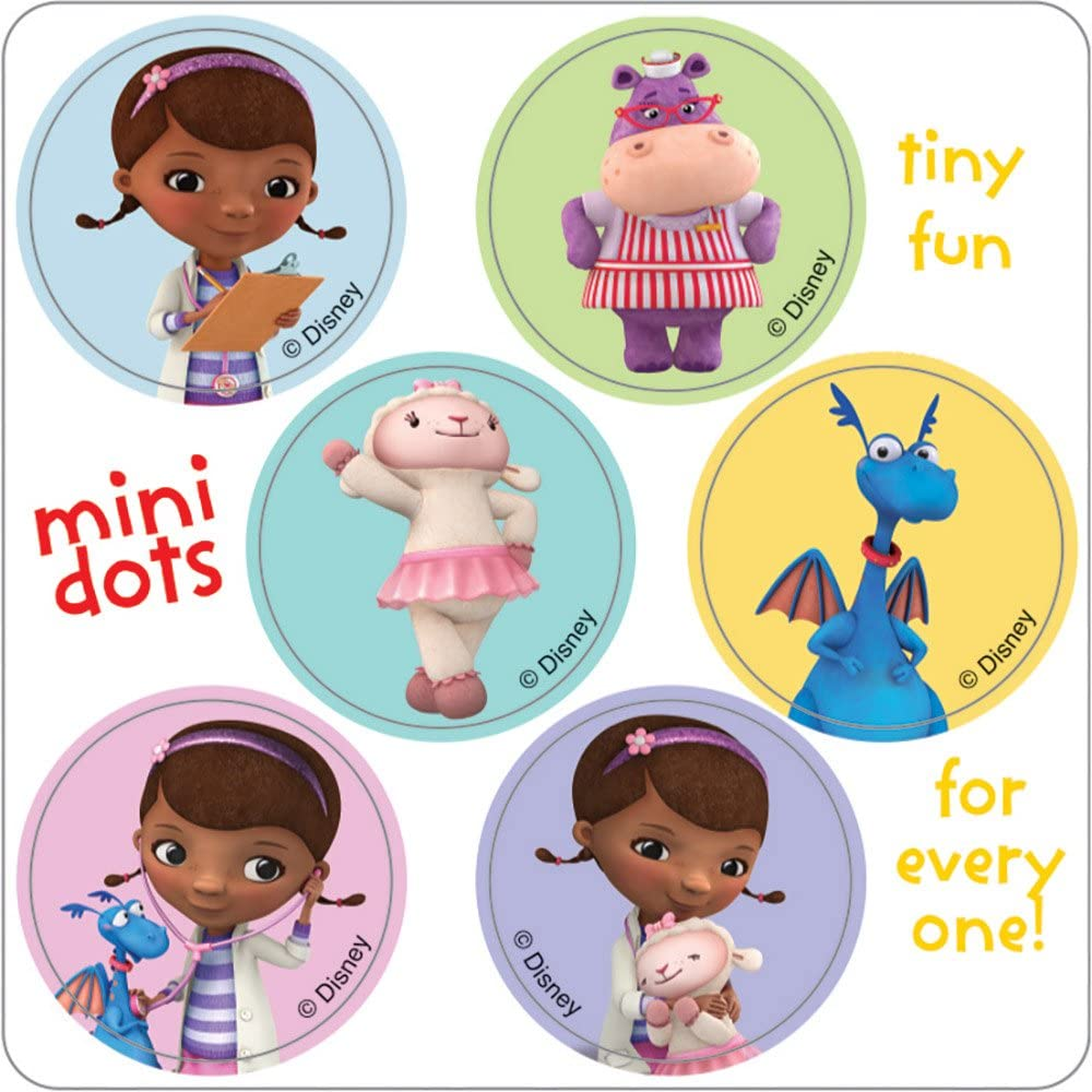 Amazon Com Smilemakers Doc Mcstuffins Mini Dot Stickers Birthday Party Favors 100 Per Pack Everything Else