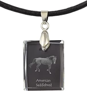 American Saddlebred, Horse Crystal Necklace, Pendant, Exceptional Gift