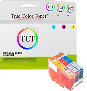 TCT Compatible Ink Cartridge Replacement for HP 564XL 546 XL Works with HP Photosmart 5511 5512 5514 5515 5520 5522 5524 5525 Printers (Cyan, Magenta, Yellow) - 3 Pack