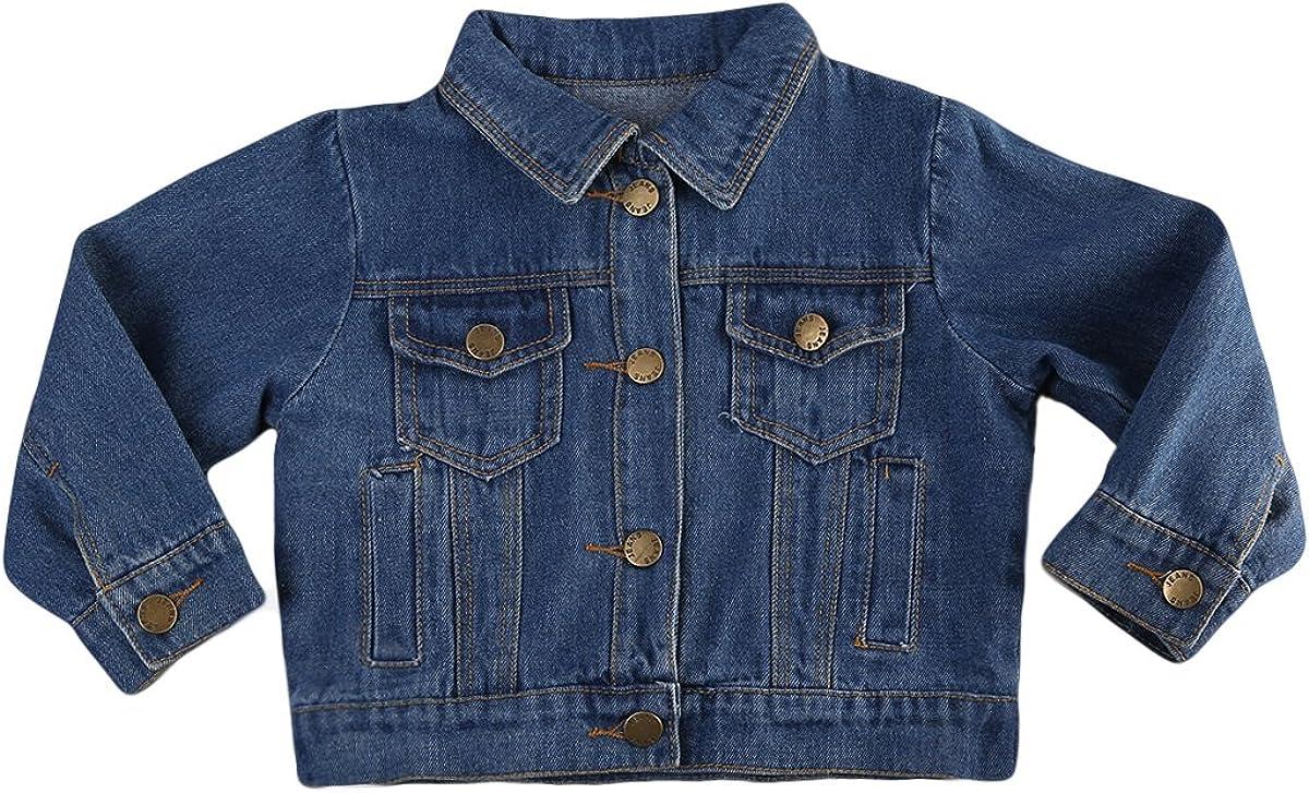 Toddler Baby Boys Girls Long Sleeve Jean Denim Jacket Coat For Autumn Winter