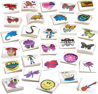 Kicko Tattoo Assortment - 720 PC Colorful Tattoos - Temporary Tattoos Assortment - Includes Dinosaur, Pirates, Animals, Fl...