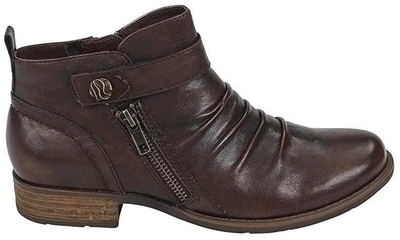 通訳クラックインシュレータ[アース] Womens Brook Leather Round Toe Ankle Fashion Boots [並行輸入品]