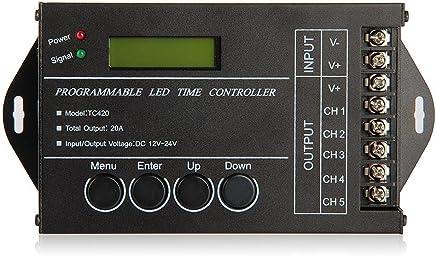 Sonline 20A Programmierbar Timer Controller DC12-24V fuer LED RGB/einfarbige Streifen