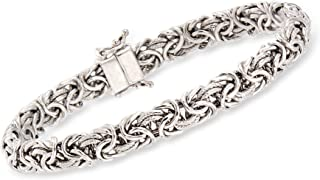 Ross-Simons Sterling Silver Byzantine Bracelet With Magnetic Clasp