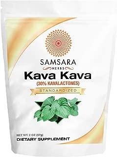 Samsara Herbs Kava Kava Extract Powder - 30% Kavalactones Extract (2oz / 57g) - Kava Root Extract