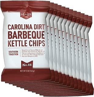 Lillie's Q - Carolina Dirt BBQ Kettle Chips, Famous BBQ Rub Flavor, Potato Chips (5 oz, 12-Pack)