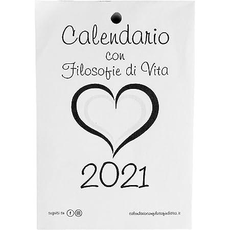 SMALL - Calendario 2021 con Filosofie di vita - RICAMBIO CM 9,5 X 13,8