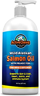 Wild Alaskan Salmon Oil for Dogs - Natural Fish Oil for Dogs & Omega 3 for Dogs - Dog Skin and Coat Supplements, DHA & EPA...