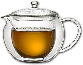 Karaffe Teekanne Thermoskanne Teekrug 1 Liter 1000ml doppelwandig Heiß- und Kaltgetränke - für Tee, Kaffee, Säfte