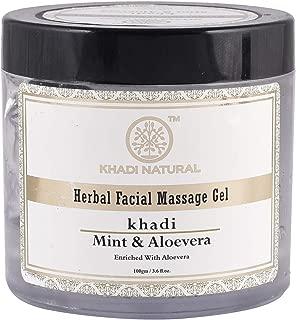 Khadi Natural Mint & Aloe vera Herbal Facial Massage Gel for All Skin Types (100 g)