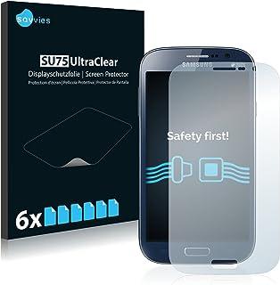 savvies Protector Pantalla Compatible con Samsung Galaxy Grand Duos I9082 (6 Unidades) Pelicula Ultra Transparente