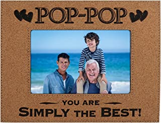 "POP POP PICTURE FRAME GIFT ~ ""POP-POP You Are SIMPLY THE BEST"" Custom Engraved Cork Picture Frame Fathers Day Birthday Christmas Daughter Son Best Dad Ever (4x6, Cork)"