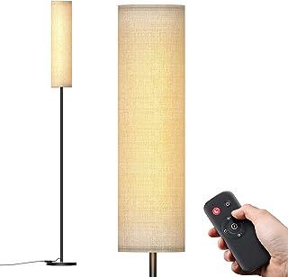 Lampadaire sur Pied Salon, Abat-jour en Tissu, 12W Lampadaire Moderne, lampe salon Classique,Température de couleur infini...
