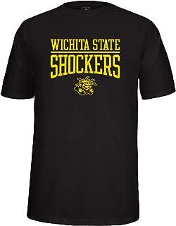 NCAA Wichita State Shockers Adult School Name Over Logo Choice Tee, Small, Black